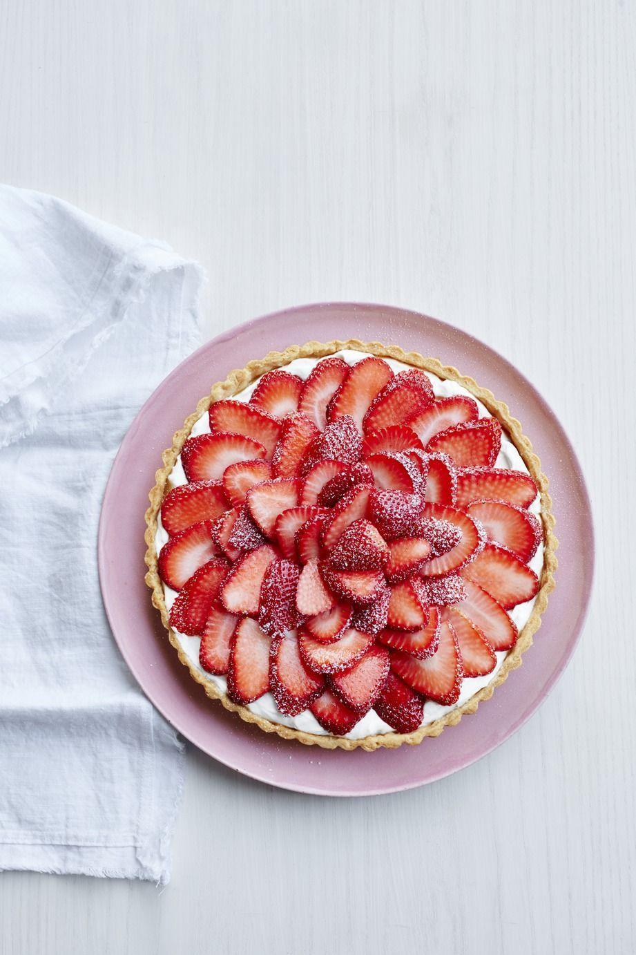 """<p>This showstopping tart is as tasty as it is beautiful (and it's definitely worth the time).</p><p><em><a href=""""https://www.womansday.com/food-recipes/recipes/a50561/strawberry-tart-recipe-wdy0615/"""" rel=""""nofollow noopener"""" target=""""_blank"""" data-ylk=""""slk:Get the recipe for Strawberry Tart."""" class=""""link rapid-noclick-resp"""">Get the recipe for Strawberry Tart.</a></em></p>"""