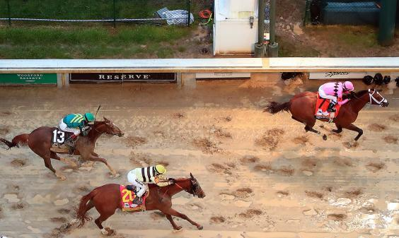 Winner Maximum Security was later disqualified despite crossing the line first (Getty Images)