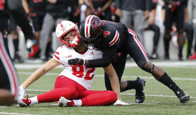 <p>2013 — NCAA passes rule calling for ejection of players flagged for targeting, a change that generally protects offensive players — quarterbacks and receivers especially — and alters the way in which many defenders can tackle without being penalized. (Photo credit: AP) </p>