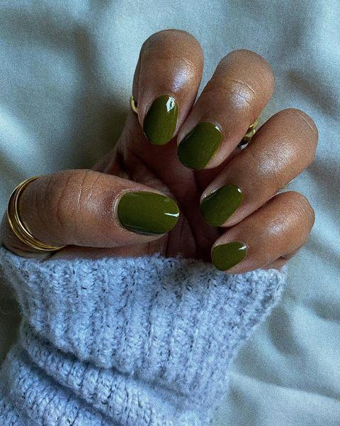 "<p>Greens of all different shades will continue to be popular for spring 2021, so don't put away those <a href=""https://www.cosmopolitan.com/style-beauty/beauty/g13516054/christmas-holiday-nail-polish-colors/"" rel=""nofollow noopener"" target=""_blank"" data-ylk=""slk:Christmas nail polishes"" class=""link rapid-noclick-resp"">Christmas nail polishes</a> and <a href=""https://www.cosmopolitan.com/style-beauty/beauty/g31196451/st-patricks-day-nails/"" rel=""nofollow noopener"" target=""_blank"" data-ylk=""slk:St. Patrick's Day"" class=""link rapid-noclick-resp"">St. Patrick's Day</a> lacquers just yet. <strong>Earthy green (like this one), chartreuse, bright neon, classy emerald</strong>—should I keep going, or do you get the idea? The point is that spring this year isn't just about mint and seafoam greens (although, yup, those will be big too).</p><p><a href=""https://www.instagram.com/p/CIRWjMTsBgj/?utm_source=ig_embed&utm_campaign=loading"" rel=""nofollow noopener"" target=""_blank"" data-ylk=""slk:See the original post on Instagram"" class=""link rapid-noclick-resp"">See the original post on Instagram</a></p>"