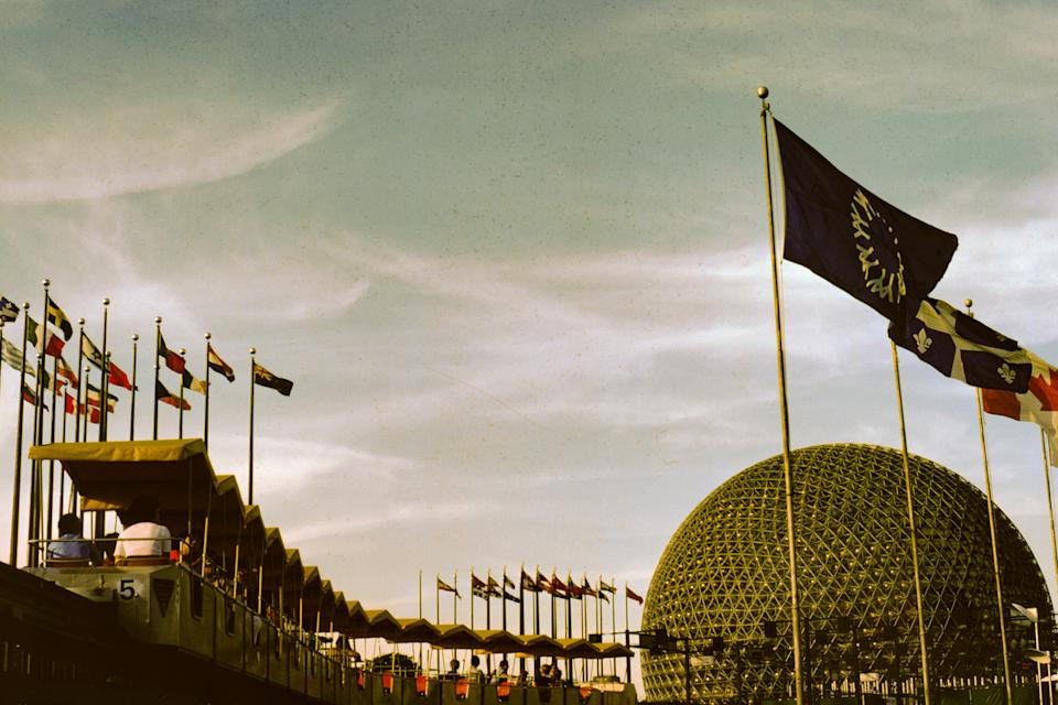 Epcot features two distinct areas. Future World is a showcase of discovery and an exploration of Earth from land and sea to air and space. World Showcase is a kaleidoscope of 11 nations featuring architecturally authentic buildings and backdrops that celebrate each cultural heritage. (Photo via Smith Collection/Gado/Getty Images).