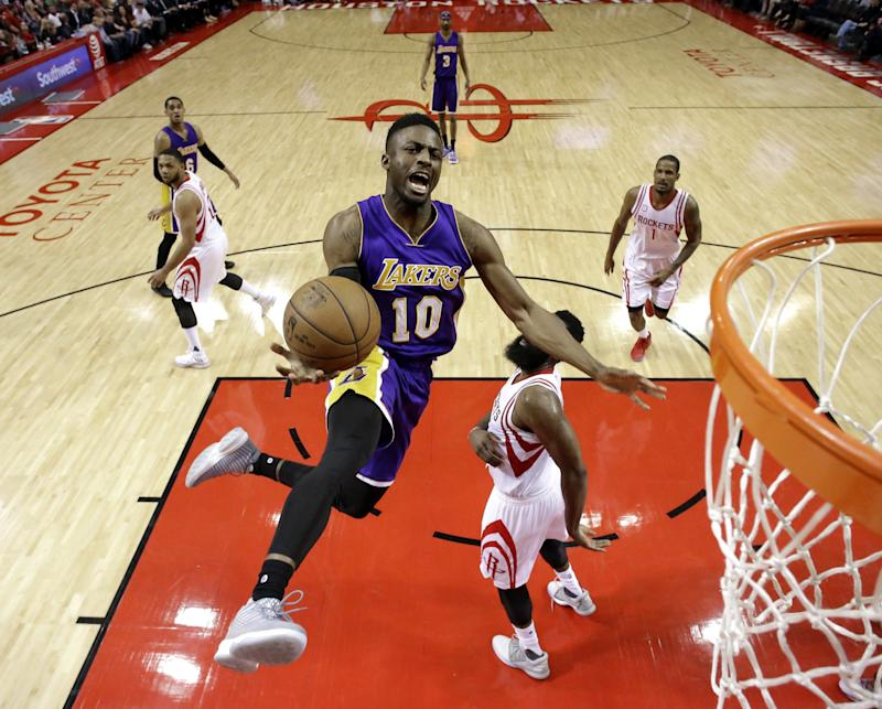 David Nwaba has played 10 games for the Lakers. (AP)