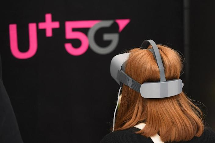 Three leading South Korean providers kicked their 5G networks into gear early in order to get a jump on their US counterparts (AFP Photo/JUNG Yeon-Je)