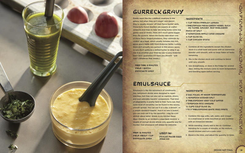 Gurreck Gravy and Emul-Sauce help make your meals pop. (Photo courtesy of Insight Editions)