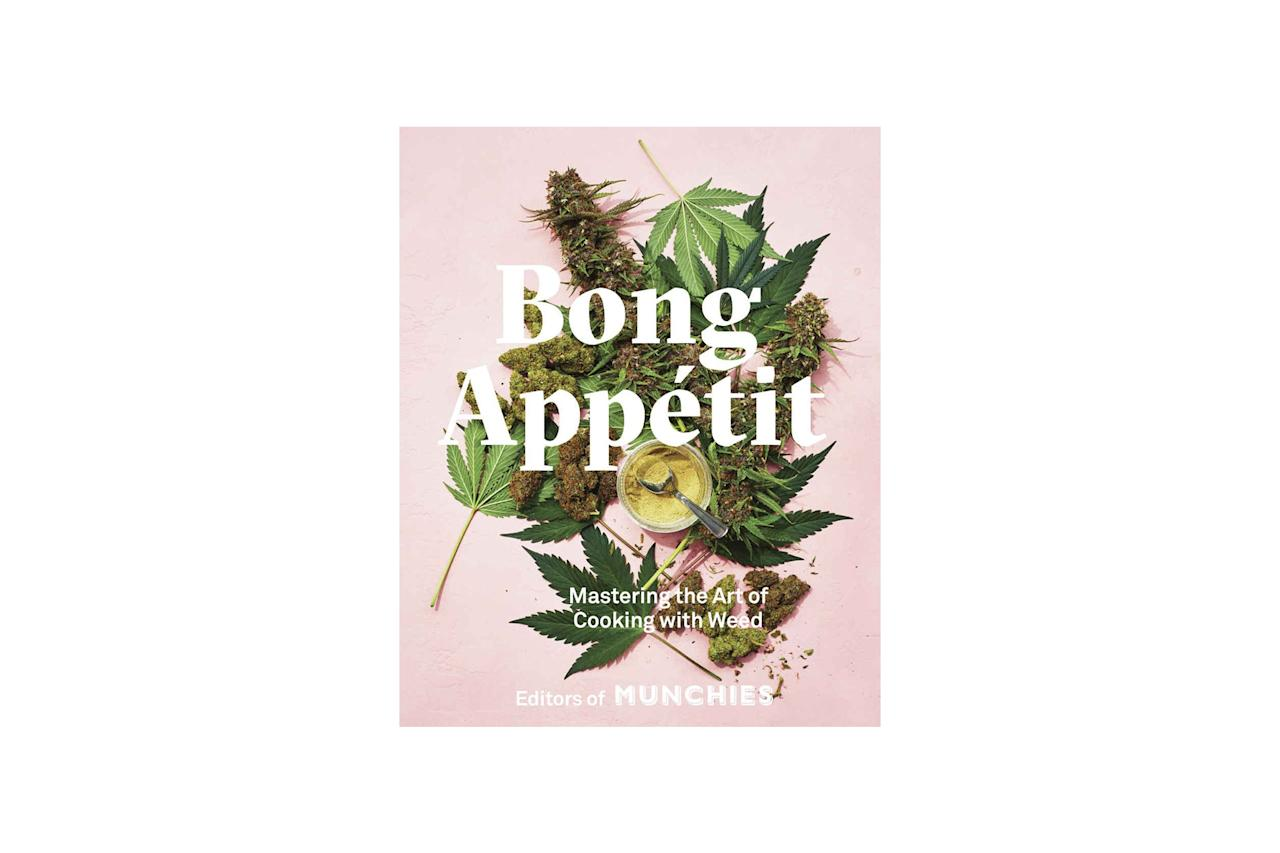 """$30, Bong Appetit. <a href=""""https://www.amazon.com/Bong-App%C3%A9tit-Mastering-Cooking-Weed/dp/0399580107/"""">Get it now!</a>"""