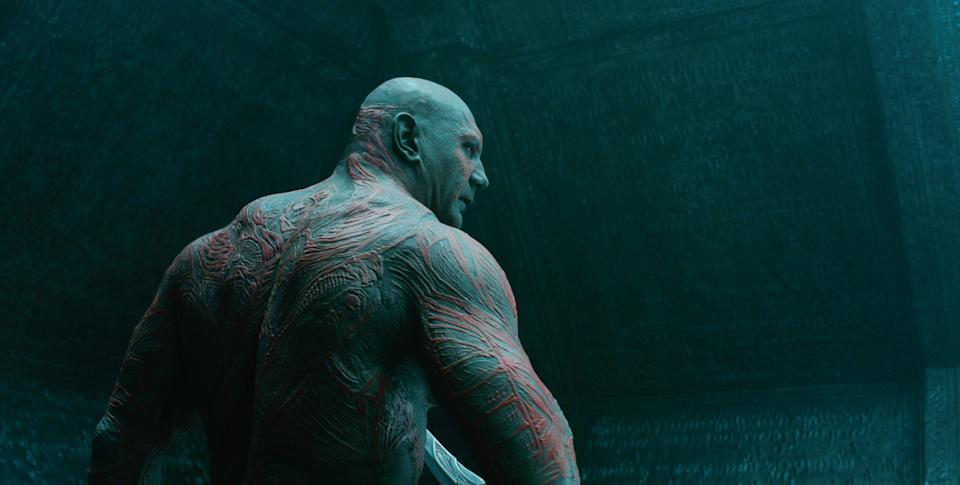 Dave Bautista flexes his acting muscles as Drax the Destroyer in 2014's 'Guardians of the Galaxy' (Photo: ©Walt Disney Co./Courtesy Everett Collection)