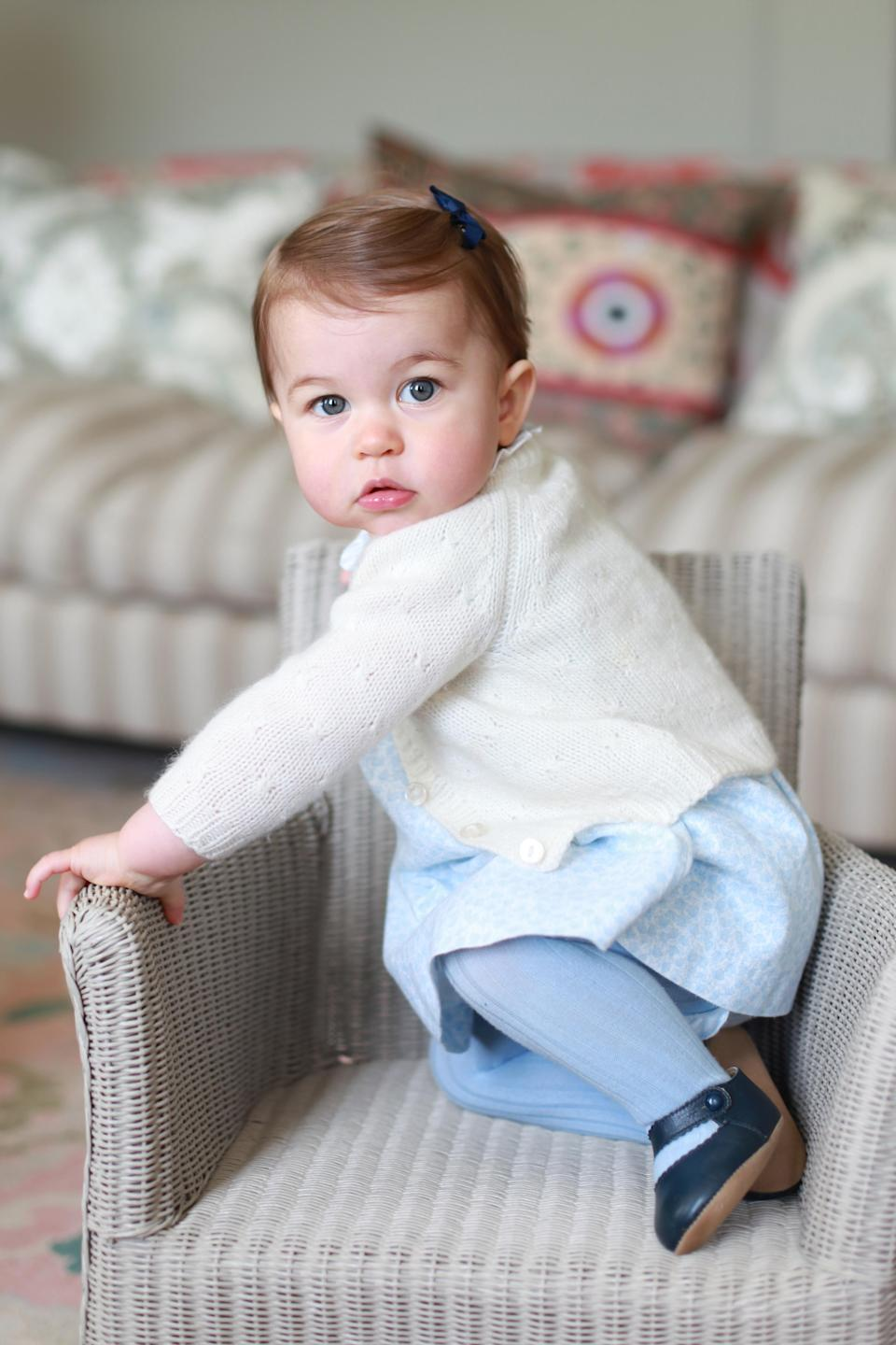 He also bears a striking resemblance to his sister, Princess Charlotte, when she turned one. [Photo: Getty Images]