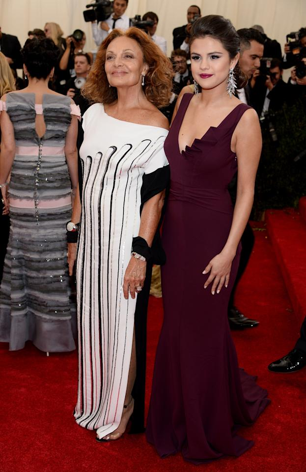 <p>She absolutely nailed her Met Gala debut with legendary designer DVF by her side.</p>