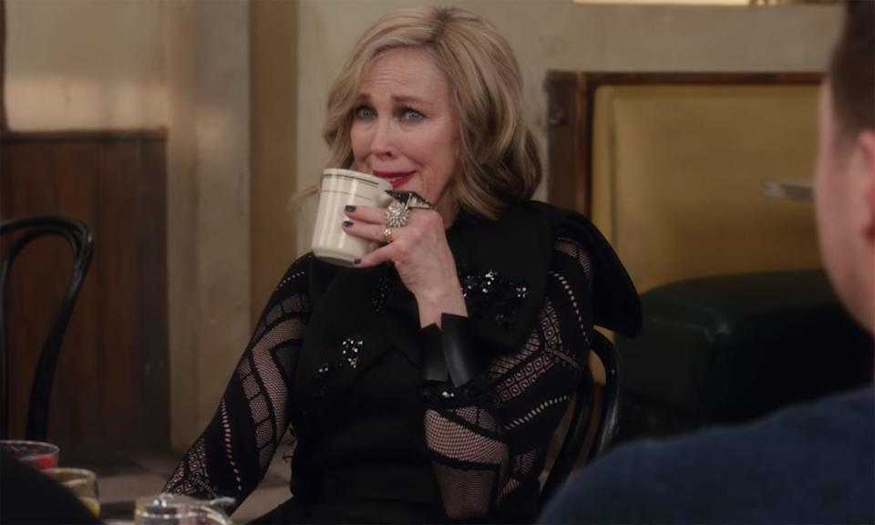 """Schitt's Creek finally got the recognition it deserved in 2019, despite having been running since the 2015, as it was nominated for four Emmy Awards. Created by and starring Daniel and Eugene Levy, the series has gone onto cult status for it's hilarious yet heartwarming script with charming albeit less-than-perfect characters. Catherine O'Hara's performance as Moira in episode """"The Crowening"""" as well as Emily Hampshire's Stevie coming into her own in a production of Cabaret were stand-outs, cementing the programme as one of the best comedies of the year. (Netflix)"""