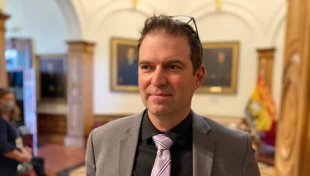 Aboriginal Affairs deputy minister Cade Libby spent Tuesday morning fielding questions from opposition MLAs about the quality of the relationship between the provincial government and First Nations communities in New Brunswick. (Jacques Poitras/CBC - image credit)