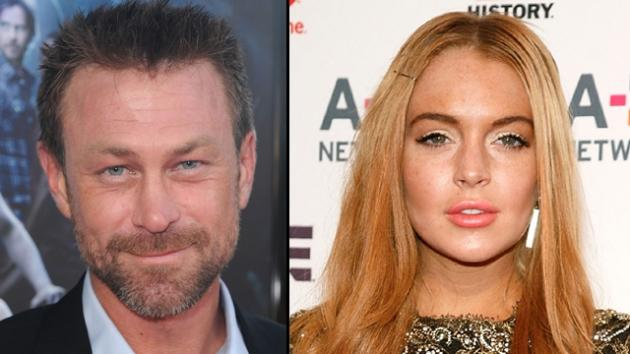 Grant Bowler, Lindsay Lohan -- Getty Images