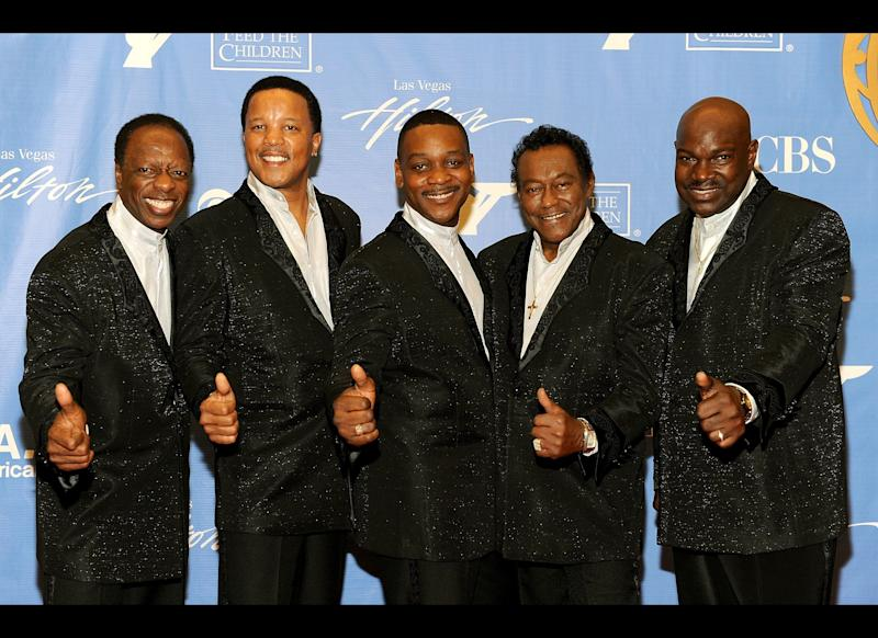 LAS VEGAS: Musical group The Spinners pose in the trophy room at the 37th Annual Daytime Entertainment Emmy Awards held at the Las Vegas Hilton on June 27, 2010 in Las Vegas, Nevada. (Photo by Frazer Harrison/Getty Images for ATI)