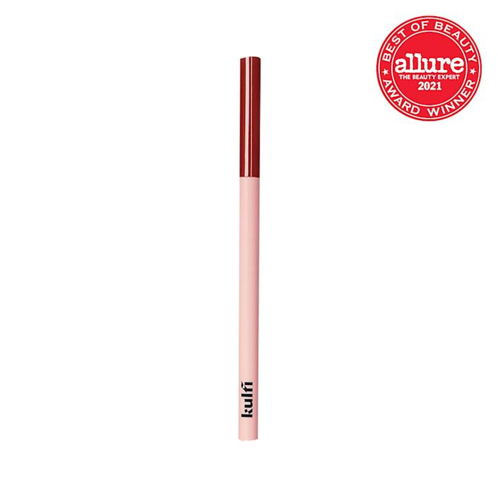 """<a href=""""https://www.allure.com/story/kulfi-beauty-kajal-eyeliner-colors-priyanka-ganjoo-interview?mbid=synd_yahoo_rss"""" rel=""""nofollow noopener"""" target=""""_blank"""" data-ylk=""""slk:Kulfi Beauty's Underlined Kajal Liners"""" class=""""link rapid-noclick-resp"""">Kulfi Beauty's Underlined Kajal Liners</a> have quickly become an <em>Allure</em> editor favorite when it comes to bold, unexpected eyeliner colors. """"I've never seen a rusty orange, shimmering maroon, or glittery turquoise like Kulfi's,"""" beauty editor <a href=""""https://www.allure.com/gallery/best-colorful-eyeliners-for-summer?mbid=synd_yahoo_rss"""" rel=""""nofollow noopener"""" target=""""_blank"""" data-ylk=""""slk:Devon Abelman raves"""" class=""""link rapid-noclick-resp"""">Devon Abelman raves</a>. Building upon a colorful history that paints a picture of grandmas mixing almonds and ghee or castor oil in the kitchen, Kulfi's modern rendition is spiked with <a href=""""https://www.allure.com/gallery/best-aloe-skin-care-products?mbid=synd_yahoo_rss"""" rel=""""nofollow noopener"""" target=""""_blank"""" data-ylk=""""slk:aloe vera"""" class=""""link rapid-noclick-resp"""">aloe vera</a> extract, <a href=""""https://www.allure.com/story/can-applying-safflower-olive-oil-fade-scars?mbid=synd_yahoo_rss"""" rel=""""nofollow noopener"""" target=""""_blank"""" data-ylk=""""slk:safflower seed oil"""" class=""""link rapid-noclick-resp"""">safflower seed oil</a>, and a vitamin E complex, for a classically creamy formula you can easily smoke out in the first 30 seconds. """"They're pigmented from the very first swipe and are, once set, one of the most smudge-proof <a href=""""https://www.allure.com/gallery/best-eyeliner-pencils?mbid=synd_yahoo_rss"""" rel=""""nofollow noopener"""" target=""""_blank"""" data-ylk=""""slk:pencil liners"""" class=""""link rapid-noclick-resp"""">pencil liners</a> I've ever tried,"""" senior commerce writer <a href=""""https://www.allure.com/gallery/allure-editors-favorite-new-beauty-products-april-2021?mbid=synd_yahoo_rss"""" rel=""""nofollow noopener"""" target=""""_blank"""" data-ylk=""""slk:Sarah Han said."""" class=""""link rapid-noclick-resp"""">Sarah H"""