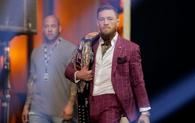 Conor McGregor is in trouble with the law ... again. (AP)