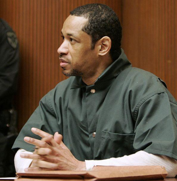 PHOTO: In a Friday, April 28, 2006, file photo, convicted sniper John Allen Muhammad gestures as he address judge James L. Ryan during a media preview before the start of his trial, in Rockville, Md. (Chris Gardner/AP, FILE)