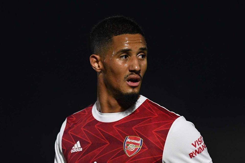 <p>William Saliba has yet to be handed his Arsenal debut by Mikel Arteta</p> (Arsenal FC via Getty Images)