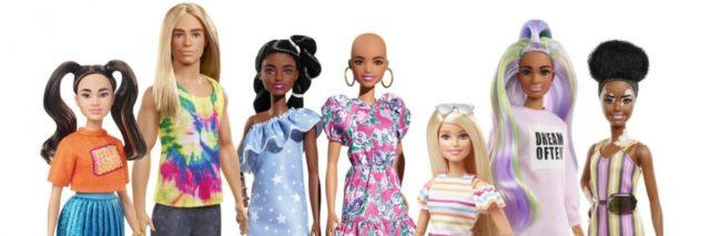 New Fashionista Barbies with vitiligo, wheelchair user and prosthetic limbs