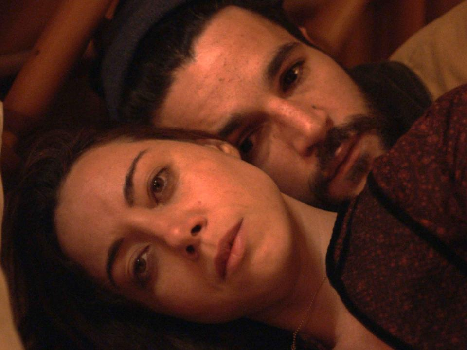 Plaza and co-star Christopher Abbott in Black BearVertigo Releasing