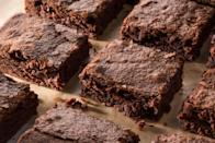 """If you prefer your brownies extra fudgy, this recipe is the way to go. You'll get the texture you're looking for thanks to six whole eggs in the batter. <a href=""""https://www.epicurious.com/recipes/food/views/fudgy-double-chocolate-brownies-56389363?mbid=synd_yahoo_rss"""" rel=""""nofollow noopener"""" target=""""_blank"""" data-ylk=""""slk:See recipe."""" class=""""link rapid-noclick-resp"""">See recipe.</a>"""