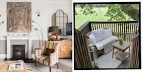 """<p>The best Airbnbs in the UK are all about soaking up the sea views at beachfront pads in Cornwall, snuggling up in cosy cottages in Kent and checking into the quirkiest places to stay, from treehouses in West Sussex to yachts in Dorset.</p><p><a class=""""link rapid-noclick-resp"""" href=""""https://www.airbnb.co.uk/"""" rel=""""nofollow noopener"""" target=""""_blank"""" data-ylk=""""slk:BOOK AN AIRBNB"""">BOOK AN AIRBNB</a></p><p>If you've already experienced <a href=""""https://www.elle.com/uk/life-and-culture/travel/g36420945/airbnb-london/"""" rel=""""nofollow noopener"""" target=""""_blank"""" data-ylk=""""slk:Airbnbs in London"""" class=""""link rapid-noclick-resp"""">Airbnbs in London</a> or <a href=""""https://www.elle.com/uk/life-and-culture/travel/g36410749/airbnbs-with-hot-tubs/"""" rel=""""nofollow noopener"""" target=""""_blank"""" data-ylk=""""slk:Airbnbs with hot tubs"""" class=""""link rapid-noclick-resp"""">Airbnbs with hot tubs</a>, you've come to the right place as we've rounded up the ultimate list of best Airbnbs all around Britain, from Edinburgh to Shropshire.</p><p>Looking for somewhere romantic for two? You'll lust after our adorable <a href=""""https://www.elle.com/uk/life-and-culture/travel/articles/a30807/best-glamping-sites-for-summer/"""" rel=""""nofollow noopener"""" target=""""_blank"""" data-ylk=""""slk:glamping retreat"""" class=""""link rapid-noclick-resp"""">glamping retreat</a> with alpacas in Powys, Wales. How about a spacious rental for a big group of mates after July 19? We've found a grand manor house fit for the stars of <a href=""""https://www.elle.com/uk/life-and-culture/culture/a35160147/bridgerton-season-2/"""" rel=""""nofollow noopener"""" target=""""_blank"""" data-ylk=""""slk:Bridgerton"""" class=""""link rapid-noclick-resp"""">Bridgerton</a>. </p><p>Elsewhere, there's an impossibly chic apartment in Bath and a gorgeous barn in Devon worth checking out. </p><p>Whatever you're into and however many of you are travelling (even if it includes the dog!), you'll want to have a little scroll through ELLE UK's selection of best Airbnbs in the UK for 2021.</p>"""