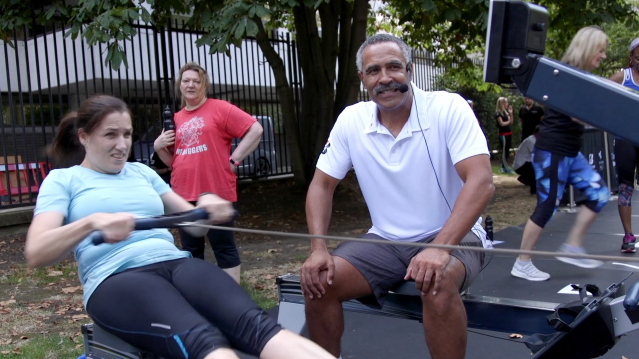 Daley Thompson was speaking at the launch of his pop-up gym on London's Southbank