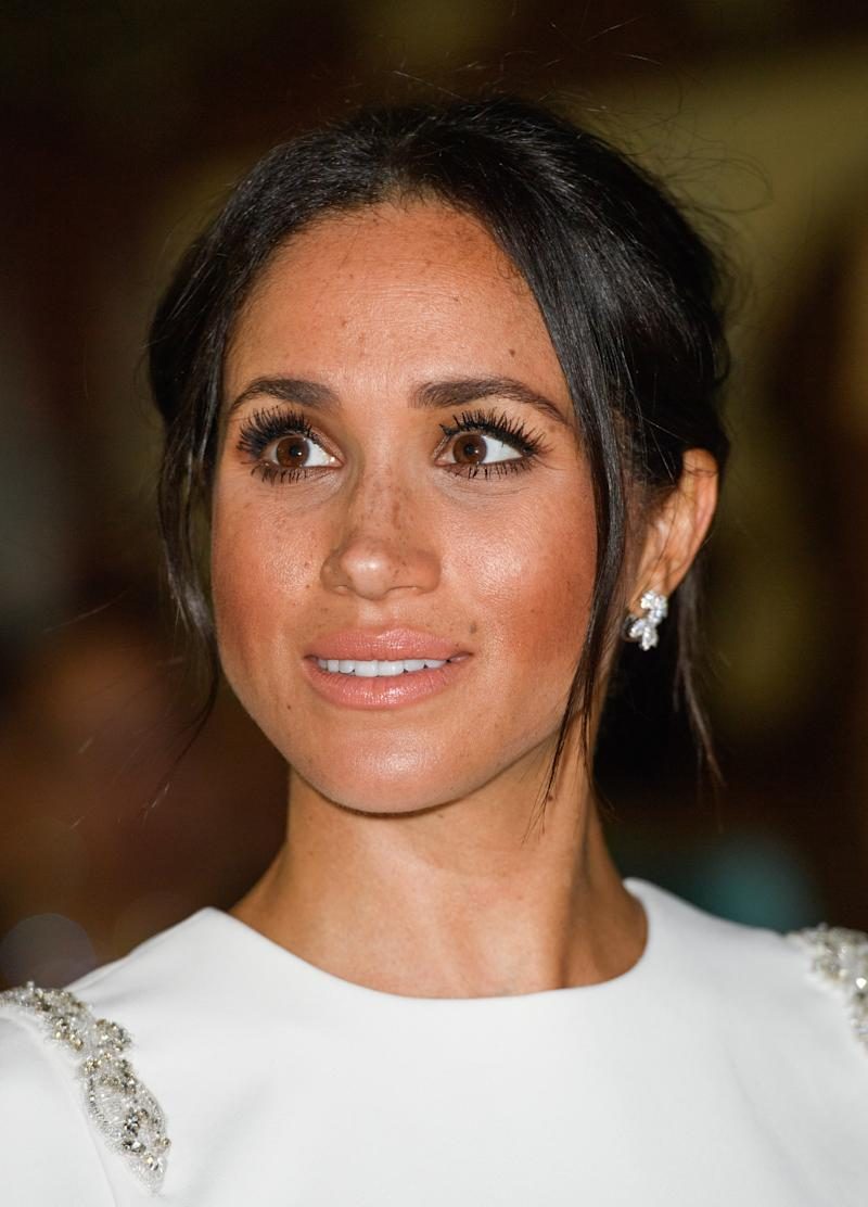 Meghan Markle says this serum gives her crazy long eyelashes. (Credit: Getty)