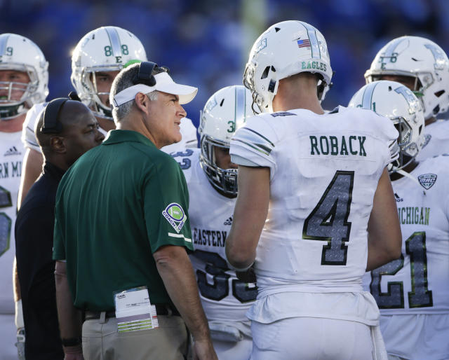 Eastern Michigan is 4-7 this season. (AP Photo/David Stephenson)