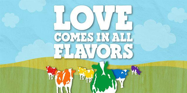 The ice cream parlour has supported marriage equality in several countries. Source: Supplied