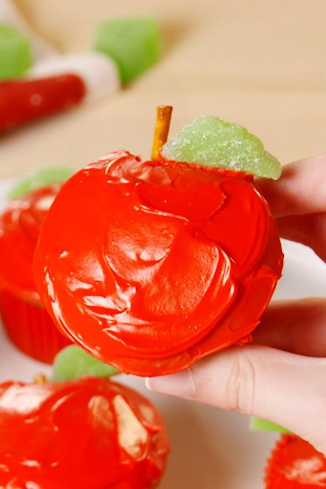"""<p>An apple cupcake a day will keep the doctor away!</p><p>Get the <a href=""""http://www.delish.com/uk/cooking/recipes/a28827316/easy-apple-cupcakes-recipe/"""" target=""""_blank"""">Apple Cupcakes</a> recipe.</p>"""