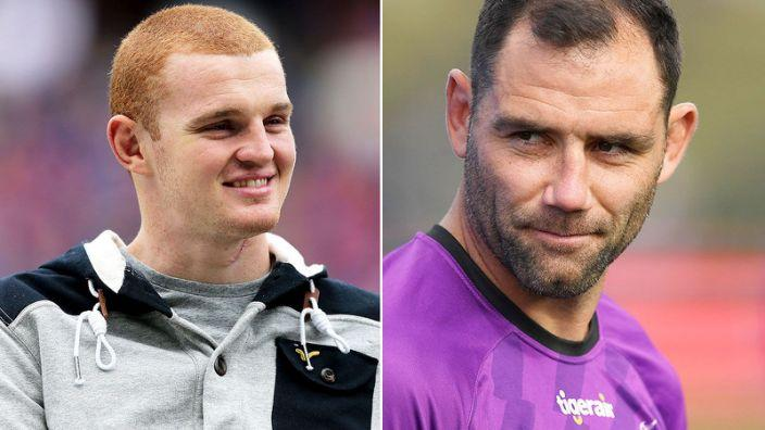 Pictured here, former Knights star Alex McKinnon and Storm veteran Cam Smith.