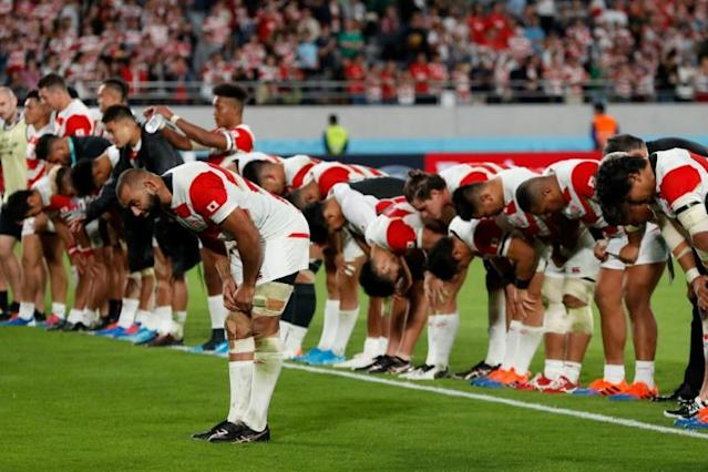 Japan's flanker Michael Leitch led his team to historic glory (AFP Photo/Odd ANDERSEN)