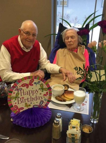 PHOTO: Before the coronavirus outbreak, Ken Gregersen would visit his wife three times a day at her nursing home. (Courtesy of Ken Gregersen)