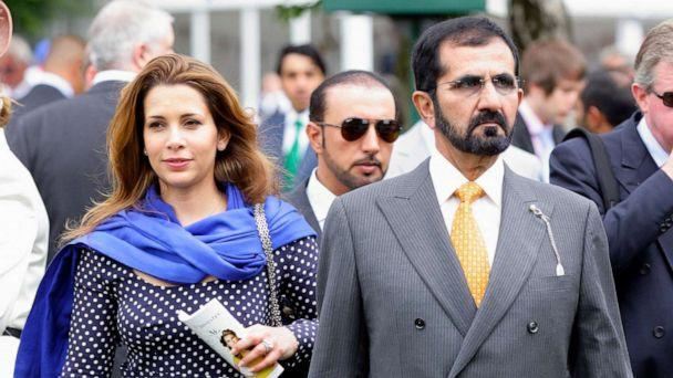 PHOTO: Princess Haya of Jordan and Sheikh Mohammed bin Rashid Al Maktoum attend Ladies Day at the Investec Derby Festival horse racing meeting at Epsom Downs on June 1, 2012, in Epsom, England. (Max Mumby/indigo/Getty Images, FILE)
