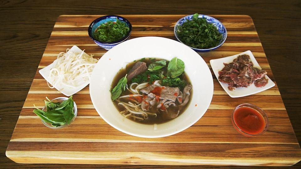 """<p>Life-changing pho doesn't have to take two days. </p><p>Get the recipe from <a href=""""https://www.delish.com/cooking/recipe-ideas/a34372692/instant-pot-pho-recipe/"""" rel=""""nofollow noopener"""" target=""""_blank"""" data-ylk=""""slk:Delish"""" class=""""link rapid-noclick-resp"""">Delish</a>.</p>"""