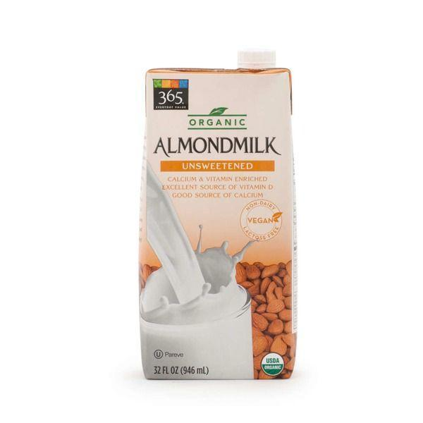 """<p><a class=""""link rapid-noclick-resp"""" href=""""https://www.amazon.com/365-Everyday-Value-Almondmilk-Unsweetened/dp/B074H6M4M4/ref=sr_1_15?almBrandId=VUZHIFdob2xlIEZvb2Rz&dchild=1&fpw=alm&keywords=nut+milk&qid=1594333995&s=wholefoods&sr=1-15&tag=syn-yahoo-20&ascsubtag=%5Bartid%7C1782.g.22559891%5Bsrc%7Cyahoo-us"""" rel=""""nofollow noopener"""" target=""""_blank"""" data-ylk=""""slk:BUY NOW"""">BUY NOW</a></p><p>There's not much the store <em>doesn't</em> have in terms of non-dairy milk alternatives. Their wide selection of almond milk, in particular, is super popular.</p>"""