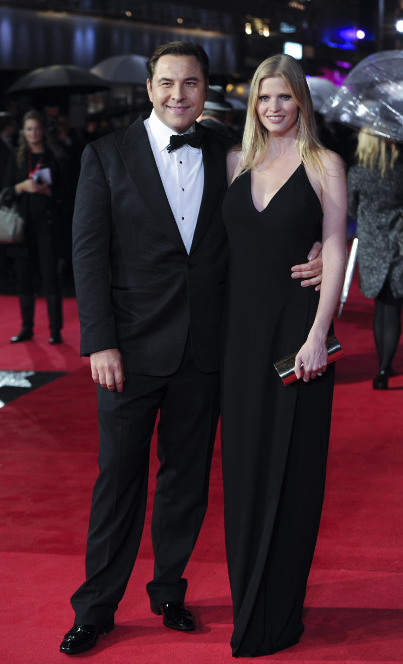 "Actor David Walliams & Lara Stone attends the ""Great Expectations"" Red Carpet as part of the BFI London Film Festival closing night gala held at the Odeon West End on Sunday, Oct. 21, 2012 in London. (Photo by Ki Price/Invision/AP)"