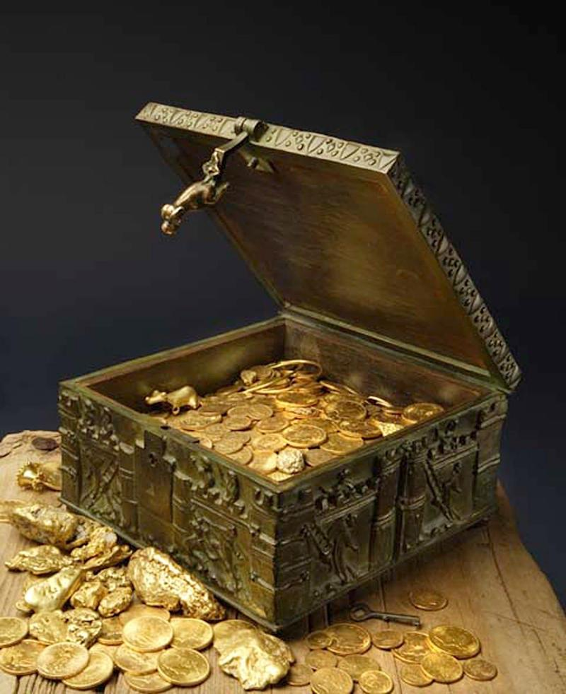 The treasure chest that Fenn claimed to have hidden - Addison Doty/AP