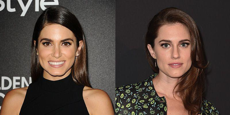 <p>Actresses Nikki Reed and Allison Williams both have prominent chins and square-shaped faces. </p>