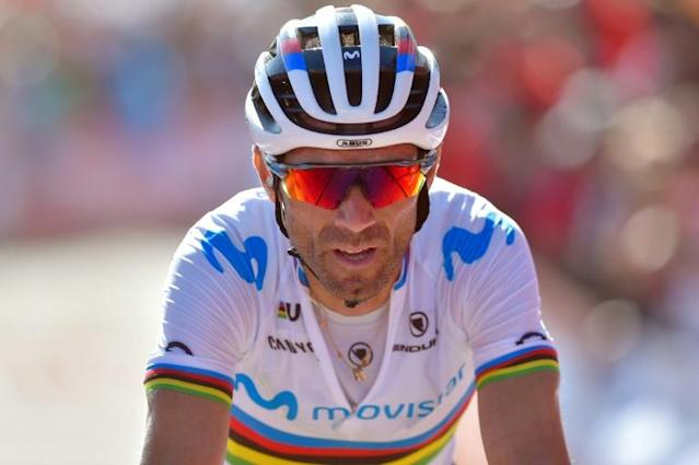 The gritty veteran Alejandro Valverde faces a competitive field at the world road race in Yorkshire on Sunday (AFP Photo/ANDER GILLENEA)