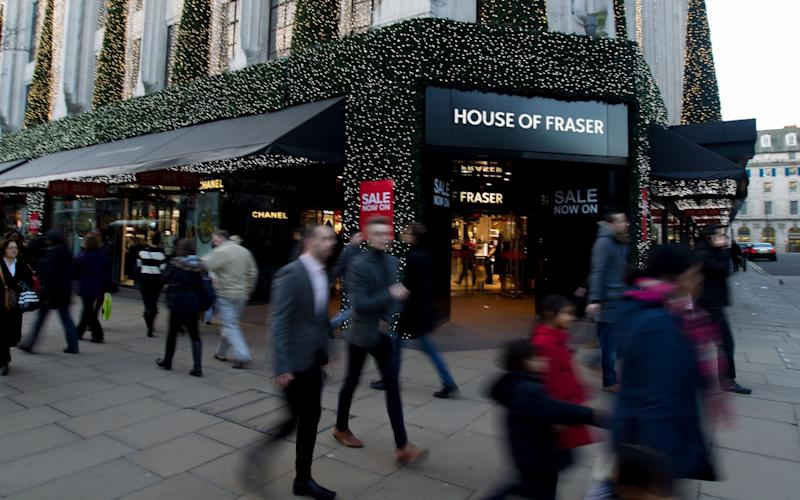 In December rating agency Moody's downgraded House of Fraser's credit rating - PA