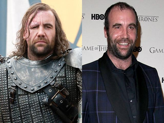 "<b>Rory McCann (Sandor Clegane, aka ""The Hound"")<br><br></b>Without the armor, the flowing locks, and the hideous facial scarring, Glasgow native Rory McCann looks a lot more approachable than his onscreen alter ego, the fearsome warrior known as ""The Hound."" We still wouldn't mess with him, though; the man stands 6-foot-6 in real life."
