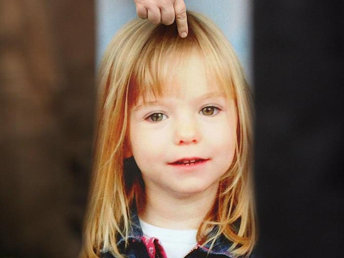 A picture of Madeleine McCann, who disappeared from a holiday complex in Praia da Luz in 2007 (Peter Macdiarmid/Getty Images)