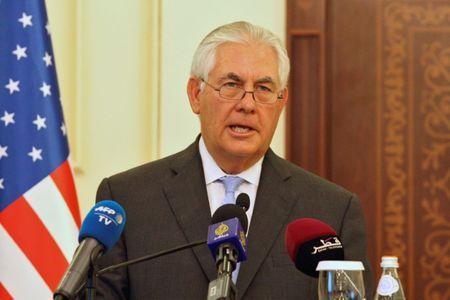 U.S. Secretary of State Rex Tillerson attends a joint news conference with Qatar's foreign minister Sheikh Mohammed bin Abdulrahman al-Thani in Doha