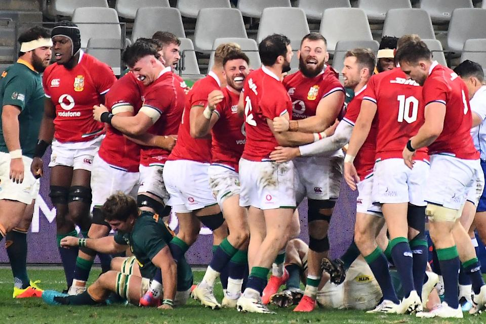 The Lions took a crucial 1-0 Test series lead against South Africa in Cape Town (AFP via Getty Images)