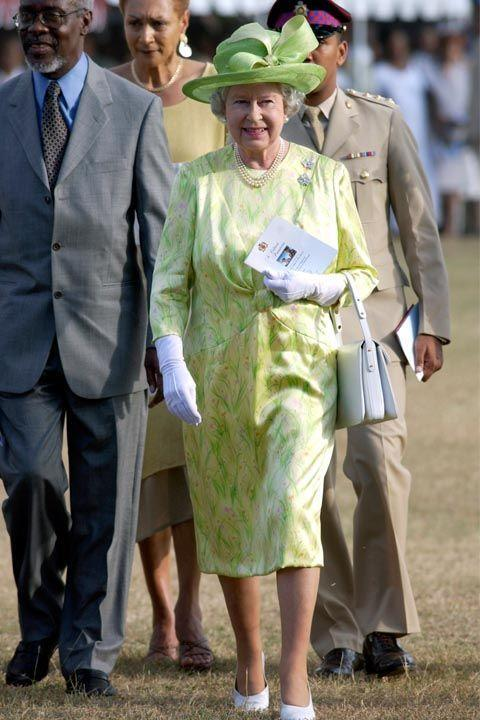 """<p>When walking with the Queen, <a rel=""""nofollow noopener"""" href=""""http://www.eonline.com/shows/the_royals/news/610777/8-things-you-should-never-do-when-meeting-the-royals"""" target=""""_blank"""" data-ylk=""""slk:keep the same pace as her"""" class=""""link rapid-noclick-resp"""">keep the same pace as her</a>. This ensures you're alongside her and can introduce her as needed when moving from room to room. </p>"""