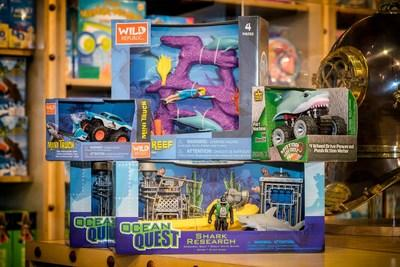 Monterey Bay Aquarium's retail buyers with SSA worked with Wild Republic to remove plastic wrap from its toys. All of these products are now being sold to other customers, so the reach of plastic-free packaging extends nationwide. Photo courtesy Monterey Bay Aquarium