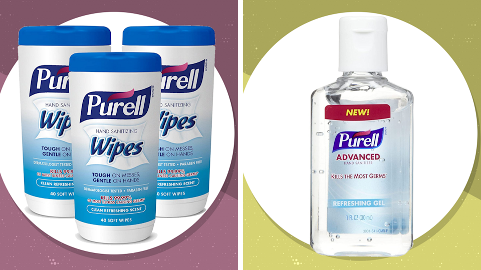 Back in stock! Grab Purell wipes and hand sanitizer while you can 1