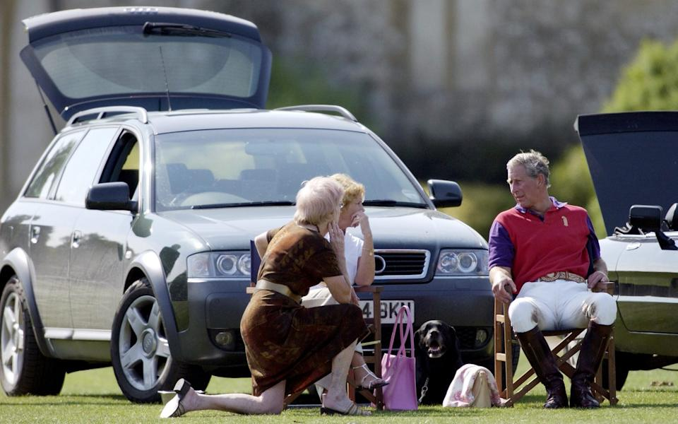 Prince Charles at Cirencester Polo with silver Audi A6 Allroad - Tim Graham