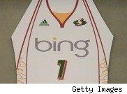 Picture of the Bing logo on a shirt