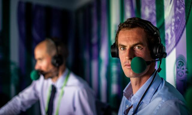 """<span class=""""element-image__caption"""">Andy Murray appeared to be a natural in his stint in the BBC commentary box alongside Andrew Cotter at Wimbledon last year.</span> <span class=""""element-image__credit"""">Photograph: Steven Paston/PA</span>"""